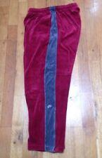 Vintage 90's Mens NIKE AIR Velour TrackSuit 2XL Burgundy Pants Hip Hop