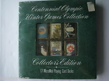 CENTENNIAL OLYMPIC WINTER GAMES COLLECTION: MICRO-MINI PLAYING CARDS, New/Sealed
