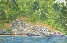 Summer, The Cliffs (14 x 18.25) -- Giclee Print by Shelley Koopmann