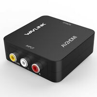 RCA to HDMI Converter,Wavlink 1080p 3RCA to HDMI CVBS AV Composite Video Audi...