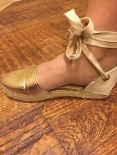 STEVE MADDEN women flats - shoes gold color Sz 6B