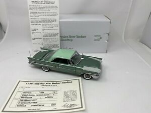 1/24 Danbury Mint 1958 Chrysler New Yorker  Green RARE READ ME