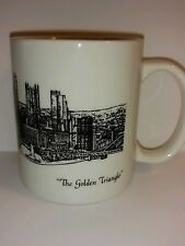 Pittsburgh Skyline The Golden Triangle Coffee Mug Post Gazette - collectible -