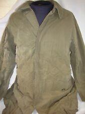 Barney's New York Trench Coat Gray Green Blue Cape Button Down Men's