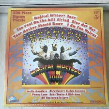 "NEW THE BEATLES Magical Mystery Tour 500 piece PUZZLE Sealed 19""x19"" AGES 7 & up"