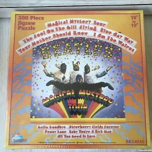 """NEW THE BEATLES Magical Mystery Tour 500 piece PUZZLE Sealed 19""""x19"""" AGES 7 & up"""