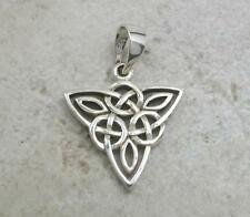 STERLING SILVER CELTIC TRINITY TRIQUETA KNOT PENDANT  style# p0425