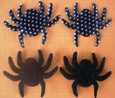 50 Black Spider Halloween Felt Satin Polka Dots Applique/sewing/trim/craft H1