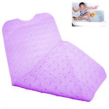 Extra Long Transparent Purple PVC Extra Long Anti-slip Bathtub Mat 40x100cm