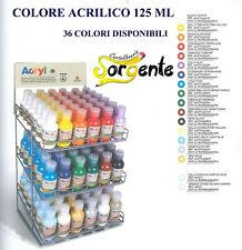 Colori tempera acrilica 125 ml in Bottiglia con Dosatore primo MOROCOLOR