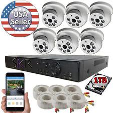 Sikker 6 Channel DVR 2 Megapixel 1080P Surveillance Camera Security System 1TB