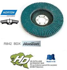 10 disques à lamelles Norton grain 80 R842  INOX/ACIER  125mm