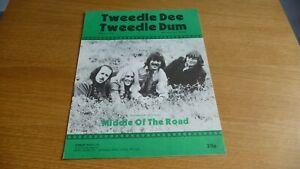 MIDDLE OF THE ROAD TWEEDLE DEE TWEEDLE DUM ORIGINAL UK  1971 SHEET MUSIC