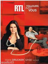 PUBLICITE ADVERTISING 105 2012  RTL radio MARIE DRUCKER