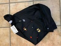 VINTAGE FRENCH CONNECTION GAMBLING CARDS BLACK BUTTON DOWN SHIRT LS  MENS S NEW