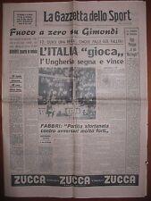 LA GAZZETTA DELLO SPORT 28/6/1965  Calcio  Ungheria 2  Italia 1