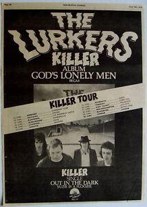THE LURKERS 1979 original POSTER ADVERT GODS LONELY MEN killer tour
