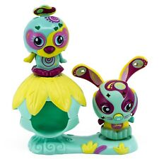 Zoobles Petagonia Olivier Bunny Rabbit #027 and Treena Bird #028 With Happitat