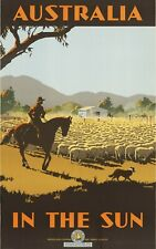 Vintage Travel Poster Australia in the Sun