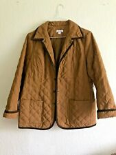 Joan Rivers Quilted Snap Front Beige Tan Ladies Jacket/Barn Coat Insulated~Sz M
