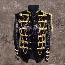HOT Mens Suit Coats Bar Sequins Bling Tassel Dress Formal Jacket Costume Show