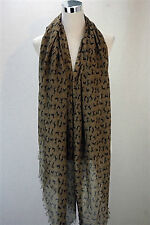 BROWN MINI HORSE (BROWN) PRINT SCARF
