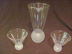 NEW MACY'S LEONARD FLORENCE GLASS MARTINI SHAKER SET & GLASSES WITH STARS