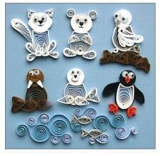Quilled Creations Paper Quilling Kit  ARCTIC BUDDIES Polar Bear, Penguin ~ 277