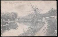 LANCASTER PA Rocky Springs Park Creek Vintage B&W Postcard Old Pennsylvania PC