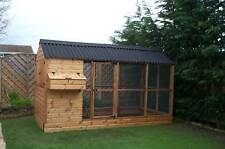 Large Poultry Chicken Coop Shed, Covered Run ,Walk in