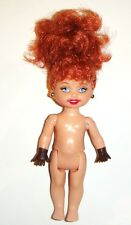 Kelly Cute Nude Doll Curly Red Hair 4 1/2 Inch Kelly Doll ky33