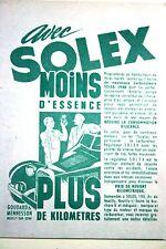 Publicité Ad  Solex 1946