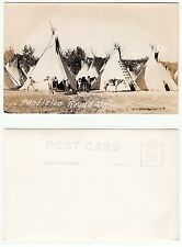 Pandleton Round Up,Indianer m. Zelten,Native American Indian w.tipi RPPC c.1920