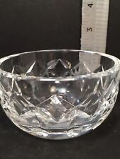 """CUT CRYSTAL CANDY NUT BOWL  4"""" Diameter Unmarked EUC"""