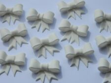 12 edible 3d RIBBON BOWS 3CM cake topper decoration CUPCAKE wedding BABY present