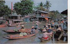 BF18860 wat sye  floating market thailand types boats  front/back image