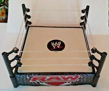 WWE USED Monday Night Raw Figure Wrestling Ring Mattel Spring Loaded Works WWF