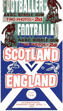 More details for 1964 a&bc footballer scottish/english 2d bubble gum card wax wrapper - very good