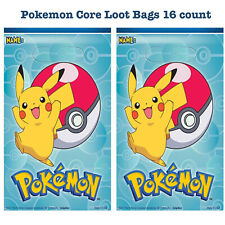 Pokémon Core Loot Treat Gift Bags Birthday Party Favor Supplies ~ 16 count