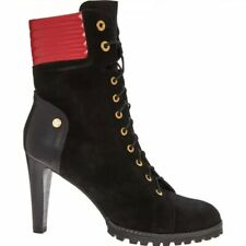 Moschino Suede Lace Up Ankle Boots - UK 6/39