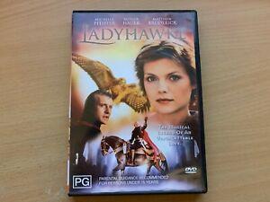 Ladyhawke Michelle Pfeiffer Rutger Hauer Matthew Broderick (DVD 1985) R4