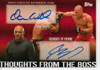 TOPPS UFC 2010 THOUGHTS FROM THE BOSS GSP GEORGES ST-PIERRE DANA WHITE AUTO /25