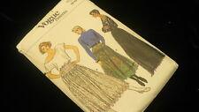 Vogue sewing skirt dirndl short long pattern 9146 8-12