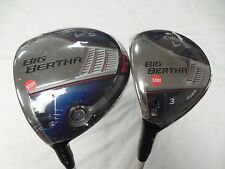 New LH Callaway Big Bertha 9.0* Driver and 15* 3 Wood Set Stiff flex Fubuki