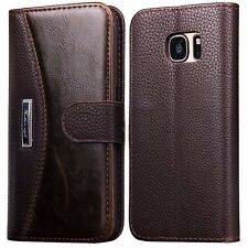 Luxury Book Style Leather Credit Card Case Wallet For Samsung Galaxy S5 Mini