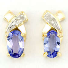 Handmade Tanzanite Stud Fine Earrings