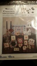 TEDDY AND FRIENDS STENCIL COLLECTIONS BY BARBIE BECK PATTERN FREE SHIPPING
