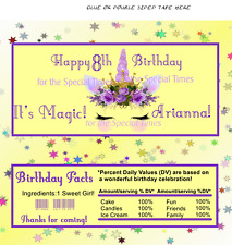 12 Hershey Candy Bar Wrappers Unicorn Its Magic Birthday Personalized Yellow