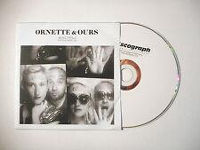 ORNETTE & OURS : AVEC NOUS ( PUT YOUR HANDS UP ) ♦ CD SINGLE PORT GRATUIT ♦