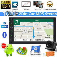 2Din 7inch Android Car Stereo Head unit Radio + SatNav WiFi USB FM AM Player